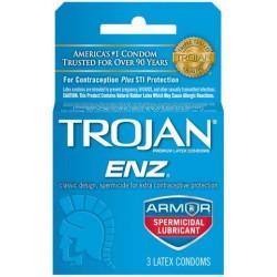 Trojan Enz Spermicidal Lubricant Condoms - 3 Pack