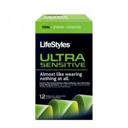 Lifestyles Ultra Sensitive Condoms - 12 Pack