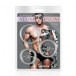 Aluminum Ring - Platinum -  3 Pack - 2, 1.75, 1.5 Inch