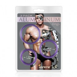 Aluminum Ring - Royal Purple  3 Pack - 2, 1.75, 1.5 Inch