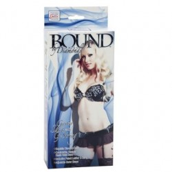 Bound By Diamonds - Garter Skirt With G-String - Black