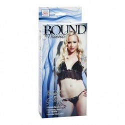 Bound By Diamonds - Babydoll With G-String - Black