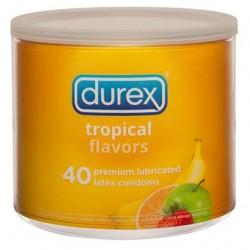 Durex Tropical Flavors - 40 Count Jar