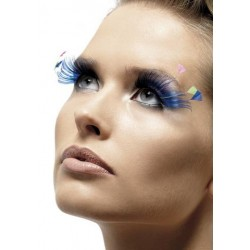 Feather Plume Eyelashes - Blue