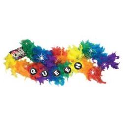 Flashing Queen Party Boa - Rainbow