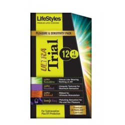 Lifestyles Ultra Trial 12 Condoms Plus 1 Vibrating Ring