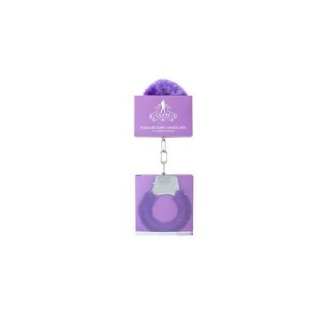 Pleasure Handcuffs Furry - Purple