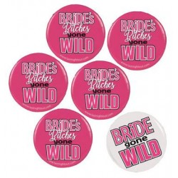 Bride Gone Wild Button Assortment  - 6 Buttons