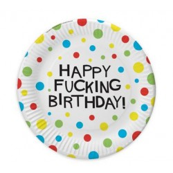 X-Rated Birthday 7-Inch Party Plates - 8 Count