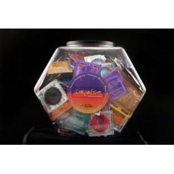 Impulse Assorted Condom Fish Bowl - 120 Count