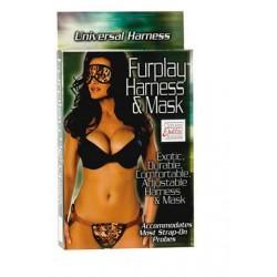 Furplay Harness And Mask - Brown Tiger