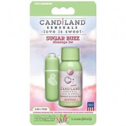 Candiland Sensuals - Sugar Buzz Massage Set - Watermelon Rock Candy