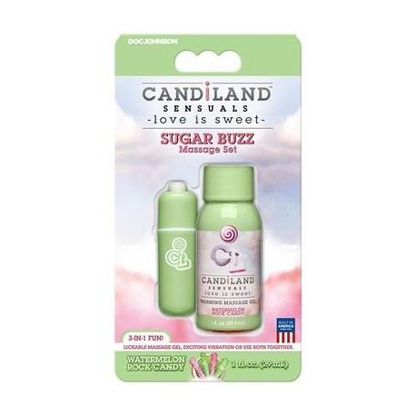 Candiland Sensuals - Sugar Buzz Massage Set - Watermelon Rock Candy
