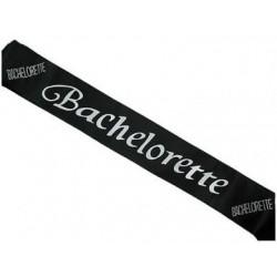 Black Bachelorette Sash With Clear Stones