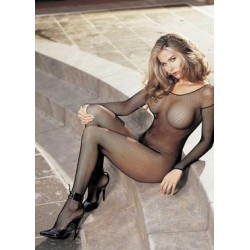 Fishnet Bodystocking - Black -  One Size