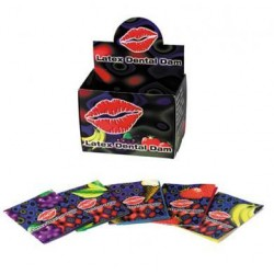 Latex Dental Dam Assorted Flavors- 100 Pieces with Display