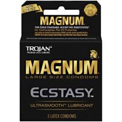Trojan Magnum Ecstasy Lubricated Condoms 3-Pack