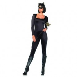 Spandex Catsuit - Black -  Large
