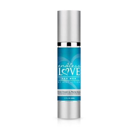 Endless Love for Men Stay  Hard and Prolong Water- Based Lubricant - 1.7 Oz
