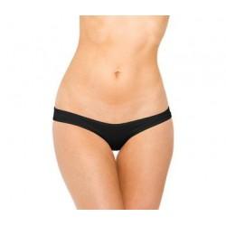 Scrunch Hip Half Back Bikini  - Black - One Size