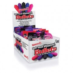 Soft-touch Vooom! Bullets - Assorted  Colors - 20 Count Display