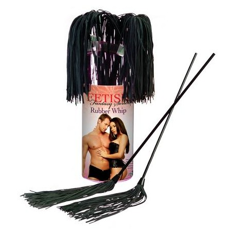Fetish Fantasy Series Rubber Whip - 12 Piece Counter Display