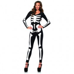 Glow-in-the-dark Skeleton  Catsuit - Large