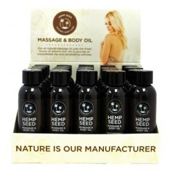 Hemp Massage Oil Assorted 2 Oz. - 25 Piece Display