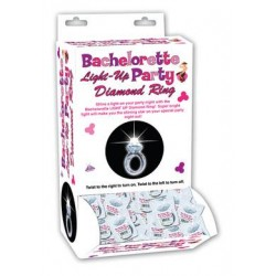 Bachelorette Light-up Party Diamond Ring - 24 Piece Display