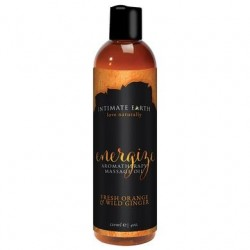 Energize Aromatherapy Massage Oil Fresh Orange &   Wild Ginger - 4 Oz. / 120 Ml