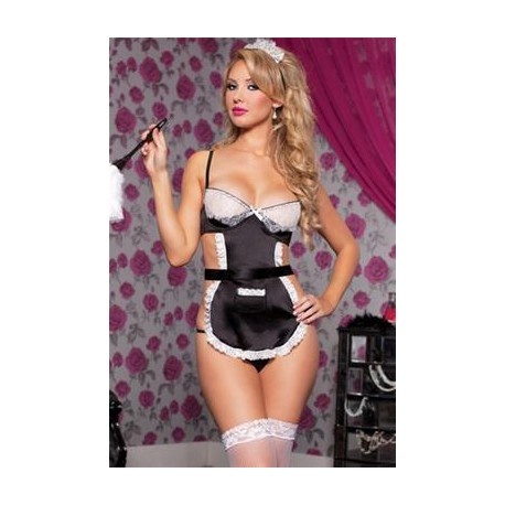 French Maid- Black - One Size