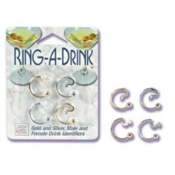 Ring a Drink Gold and Silver  Male and Female Drink  Identifiers