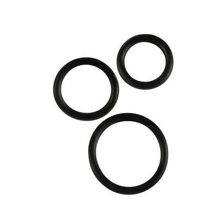 Rubber Rings 3 Piece Set - Black