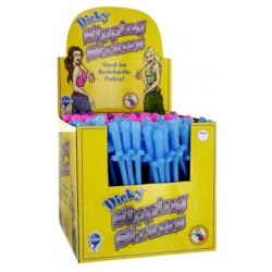 Dicky Sipping Straws Display 144 Piece Assorted