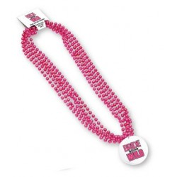 Bride Gone Wild Fun Party Beads with Medallion