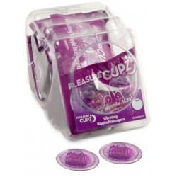 Pleasure Cupz Vibrating Nipple Massagers - 12 Count