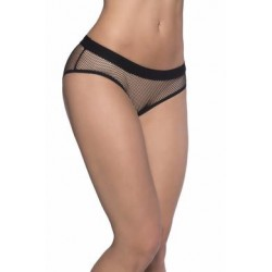 Backless Fishnet Panty - Black - One Size