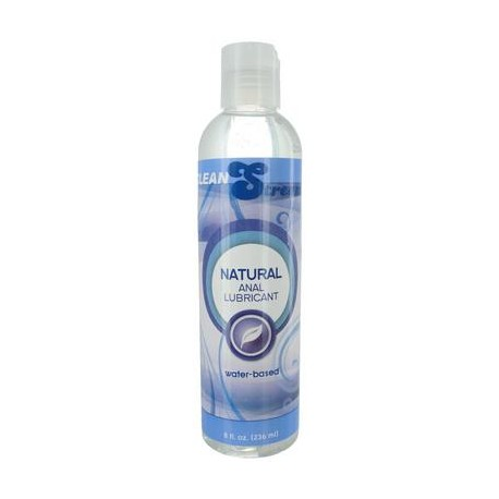 Natural Water-based Anal  Lubricant - 8 Oz.