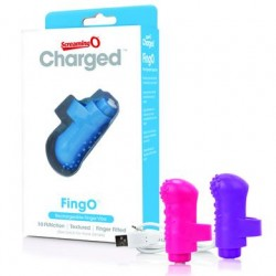 Charged Fingo Rechargeable Finger Vibe - Assorted  - 6 Count Display