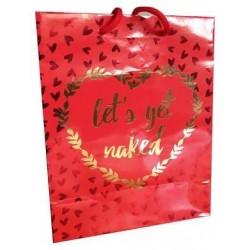 Let's Get Naked - Gold Foil Gift Bag