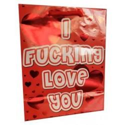 I F*cking Love You - Red Foil Gift Bag