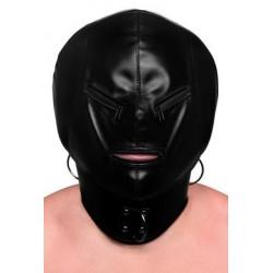 Bondage Hood W/ Posture Collar & Zippers