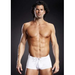 Performance Microfiber Lace-Up Trunk - White - Small/Medium