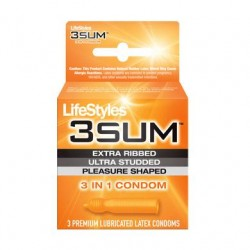 Lifestyles 3 Sum - 3 Pack  Condoms