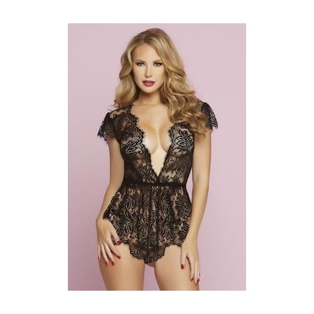 Temptation Romper - Black - Medium