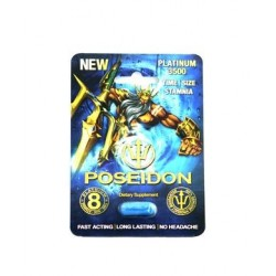 Poseidon Platinum 3500 Male Sexual Performance  Enhancement - Single Pill