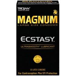 Trojan Magnum Ecstasy Ultrasmooth Lubricant Condoms - 10 Pack