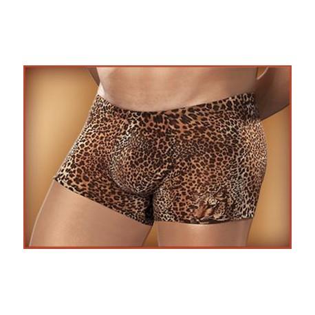 Pouch Short Nylon-Lycra Animal Brown Leopard-Small