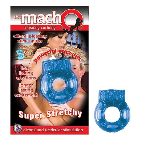 The Macho Vibrating Cockring - Blue