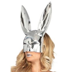 Chrome See- Thru Bunny Mask